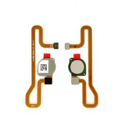 Nappe flex bouton home pour Huawei Y6 2018 or