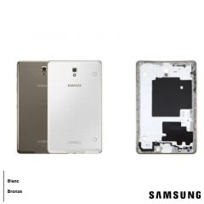Face arrière ORIGINALE Samsung T700 Galaxy Tab S 8.4 SERVICE PACK GH98-33692A blanc contour or