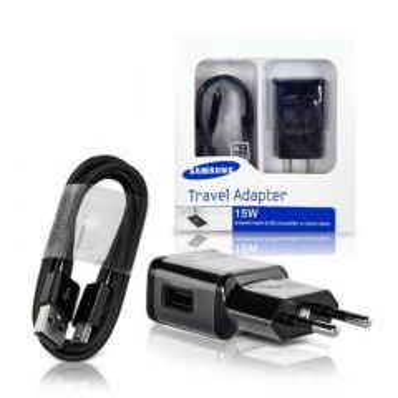 Chargeur secteur ORIGINAL Micro-Usb charge rapide Samsung 15W EP-TA20EBE (Boite/BLISTER) noir
