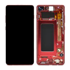 Ecran lcd avec vitre tactile ORIGINAL Samsung G975 Galaxy S10 Plus SERVICE PACK GH82-18849J blanc céramique