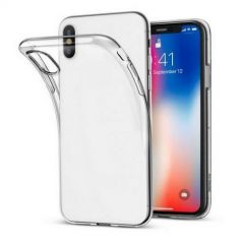 Housse de protection silicone pour Iphone XS Max (Boite/BLISTER) transparent