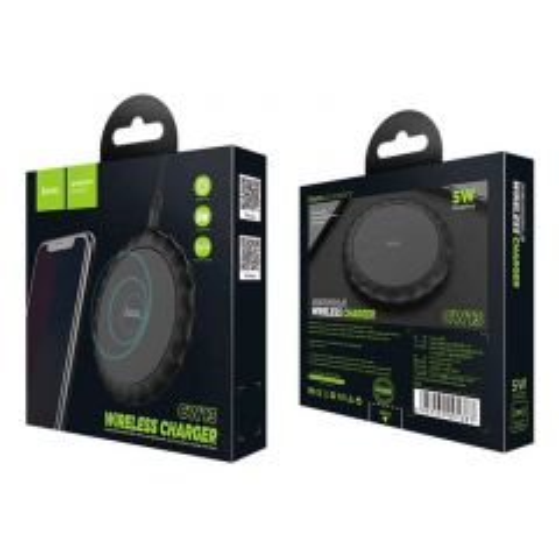 Chargeur à induction 5W à charge sensible HOCO CW13 (Boite/BLISTER) noir