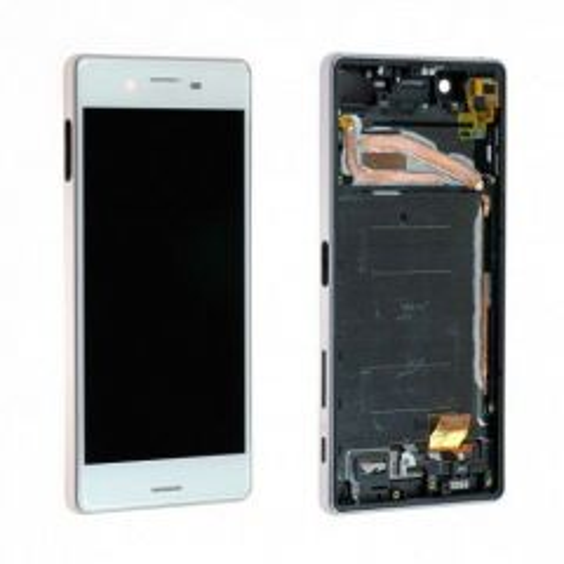Ecran lcd avec vitre tactile pour Sony Xperia X avec chassis blanc