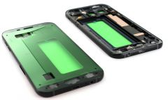 Support lcd avec chassis central pour Samsung A720 Galaxy A7 2017 noir