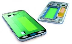 Support lcd avec chassis central pour Samsung A720 Galaxy A7 2017 bleu