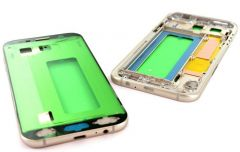 Support lcd avec chassis central pour Samsung A720 Galaxy A7 2017 or