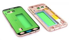 Support lcd avec chassis central pour Samsung A720 Galaxy A7 2017 rose