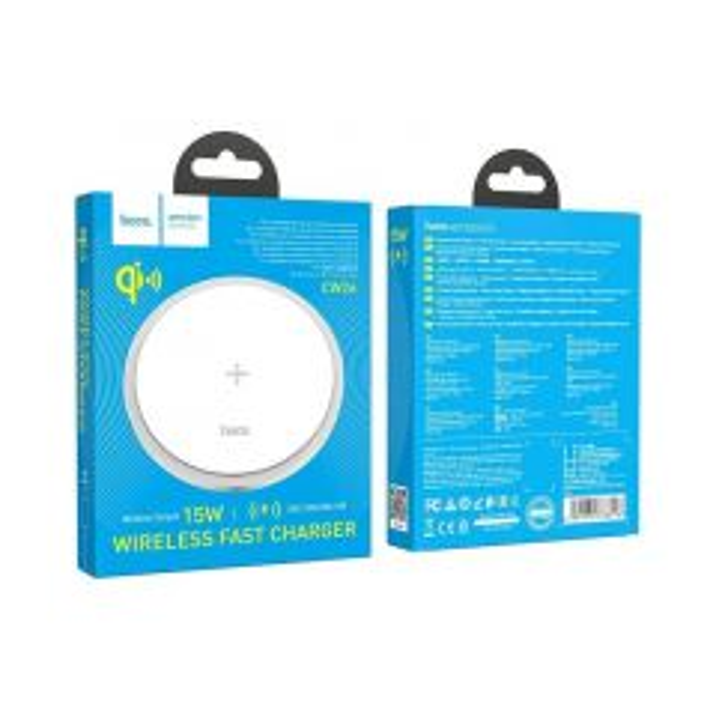 Chargeur à induction (15W) avec charge rapide HOCO CW26 (Boite/Blister) blanc
