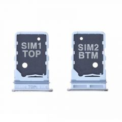 Support sim pour Samsung A805 Galaxy A80 silver/argent