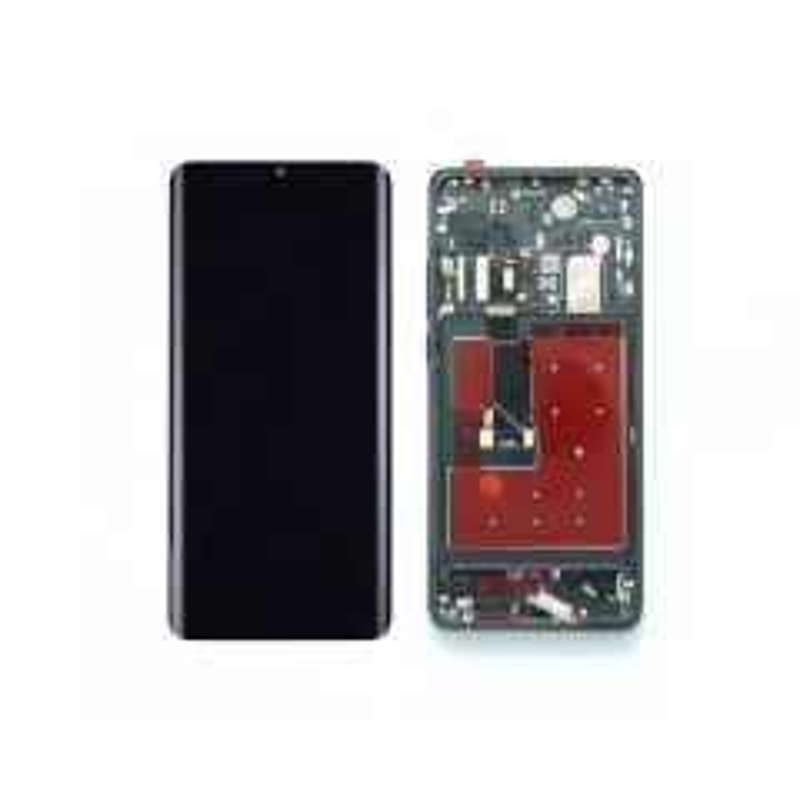 Ecran lcd avec vitre tactile OLED pour Huawei P30 Pro avec chassis noir