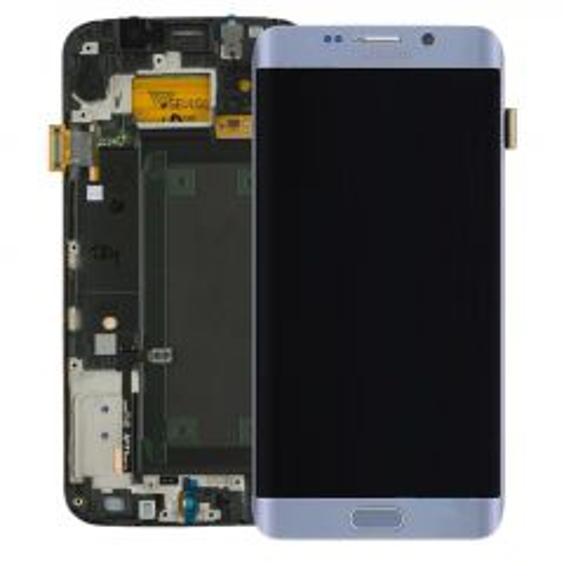 Ecran lcd avec vitre tactile ORIGINAL Samsung G928 Galaxy S6 Edge plus SERVICE PACK GH97-17819D silver/argent