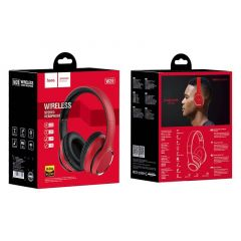 Casque audio bluetooth HOCO W28 (Boite/Blister) rouge
