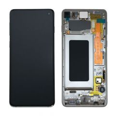 Ecran lcd avec vitre tactile ORIGINAL Samsung G973 Galaxy S10 SERVICE PACK GH82-18850H rouge