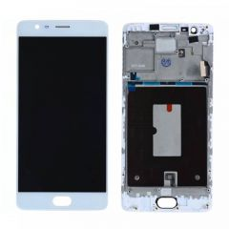 Ecran lcd avec vitre tactile pour OnePlus 3 avec chassis blanc