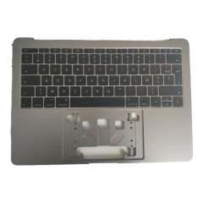 Clavier AZERTY complet avec chassis et retro éclairage pour MACBOOK PRO 13 A1706 RETINA gris foncé