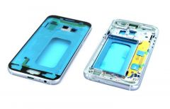 Support lcd avec chassis central pour Samsung A320 Galaxy A3 2017 bleu