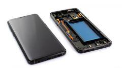 Ecran lcd avec vitre tactile pour Samsung G960 Galaxy S9 avec chassis noir